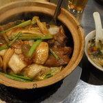 牛バラ肉と五目野菜土鍋ご飯